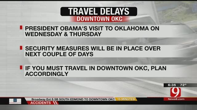 Expect Traffic Delays In OKC During Presidential Visit