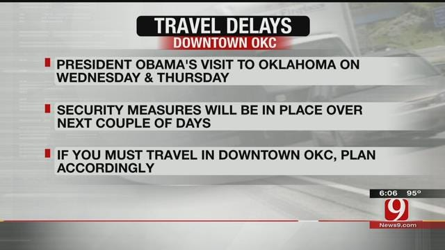 OKC Police: Expect Delays Near Downtown During President's Visit