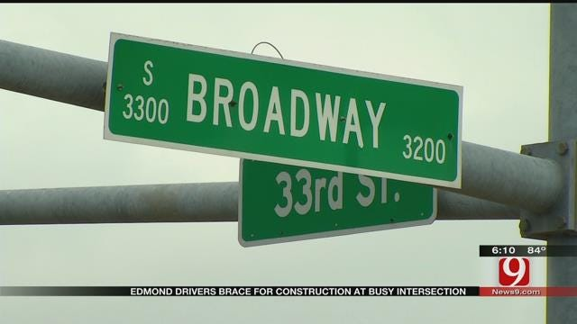 Edmond Drivers Brace For Construction At Busy Intersection