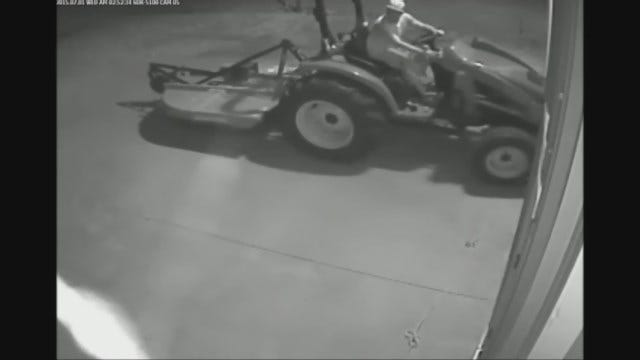 WEB EXTRA: Two Caught On Camera Attempting To Steal Tractor