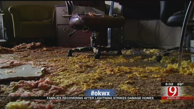 Lightning Strikes Damage Several Metro Homes