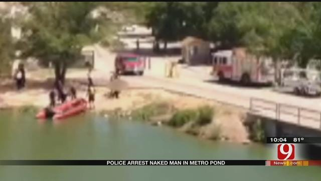 Naked Man Arrested After Dipping Into NW OKC Pond