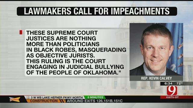Lawmakers Call For Impeachment After OK Supreme Court Ruling On Monument