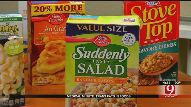 Medical Minute: Trans-Fats In Foods