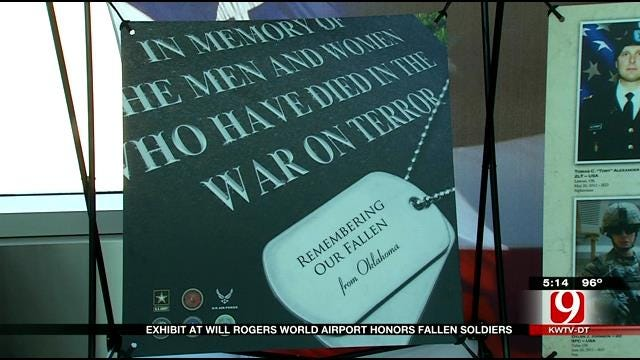 Exhibit At Will Rogers Airport Honors Fallen Soldiers