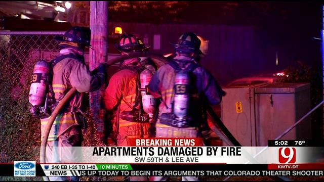 Investigators Look Into Cause Of Fire At SW OKC Apartment Complex