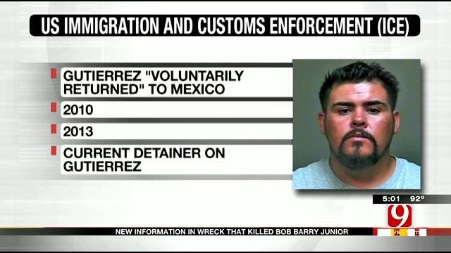 Authorities: Suspect In Crash That Killed Bob Barry Jr. Previously Deported 3 Times