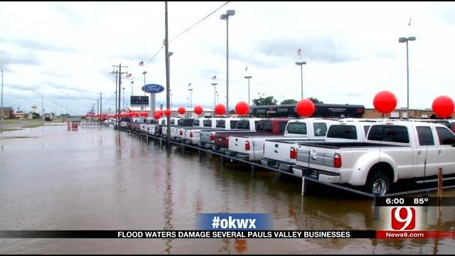 Flood Waters Damage Several Paul's Valley Businesses