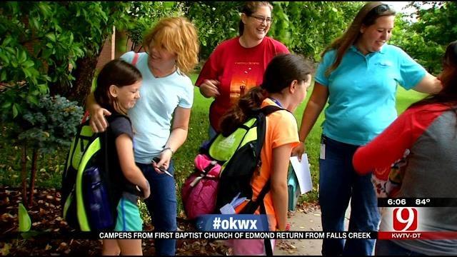 Dozens Of Campers Return To Edmond After Floods