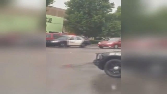WEB EXTRA: Viewer Gets Caught In Police Chase At Penn Square Mall - Shot By Shyon Keoppel