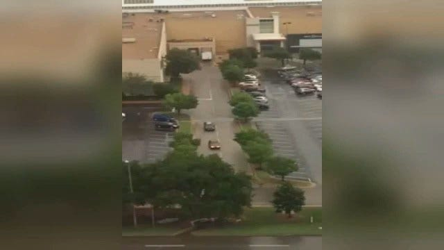 WEB EXTRA: Video Of Police Chase Shot From KJ103 Studio