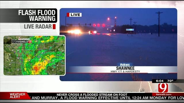 Flooding Reported In Shawnee