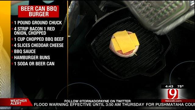 Beer Can BBQ Burgers