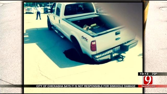 Driver Of Truck Swallowed By Chickasha Pothole Wants City To Pay For Repairs