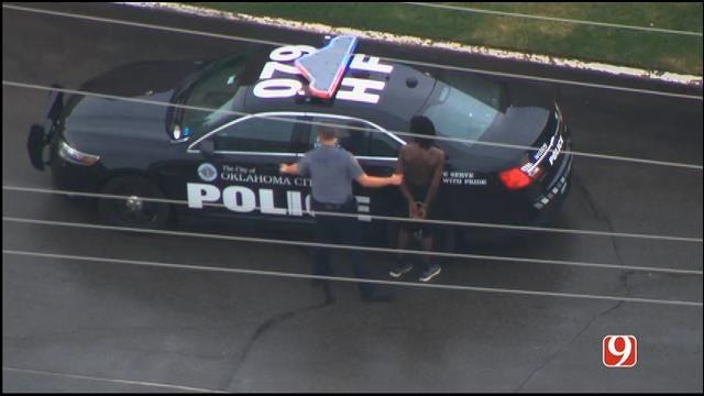 WEB EXTRA: Bob Mills SkyNews 9 HD Flies Over Scene Of NW OKC Shooting