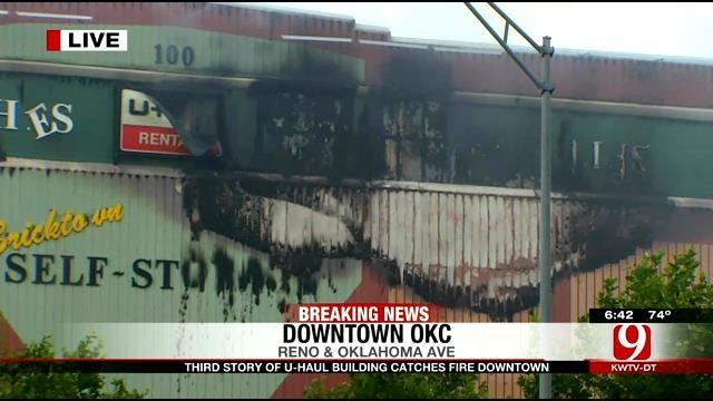 Fire Breaks Out In OKC U-Haul Building