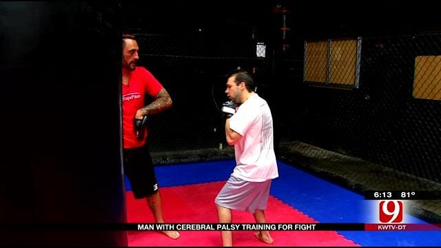 OKC Man With Cerebral Palsy Trains For MMA Fight
