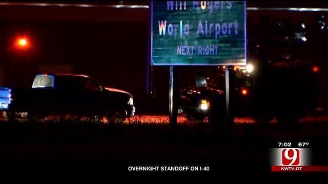 Man Leads OKC Police On Pursuit, Then Standoff On I-40