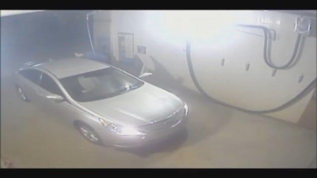 WEB EXTRA: Suspect Caught On Camera Burglarizing OKC Car Wash