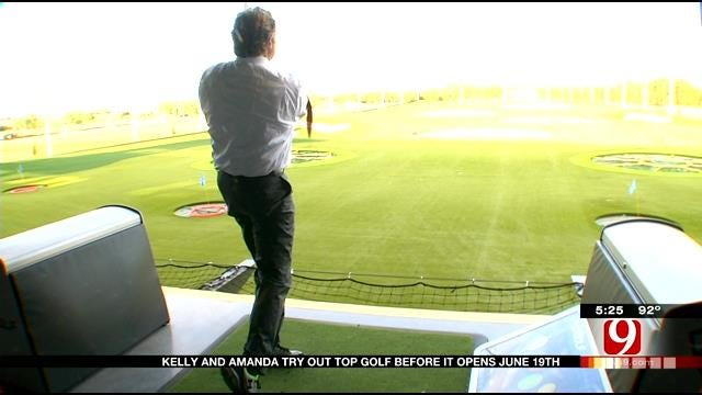WEB EXTRA: News 9's Kelly Ogle, Amanda Taylor Get Sneak Preview Of Top Golf