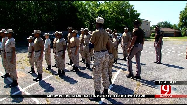 Metro Children Take Part In Operation Truth Boot Camp