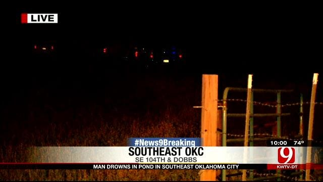 Crews Recover Body From SE OKC Pond