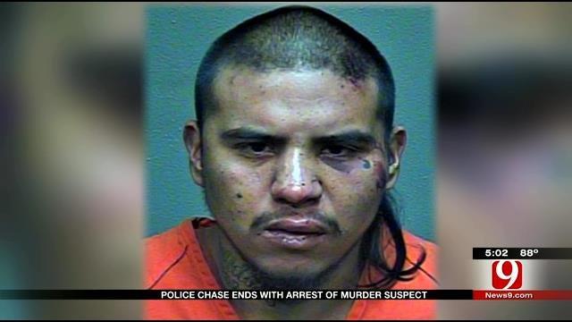 OKC Police Arrest Murder Suspect Following Car, Foot Chase