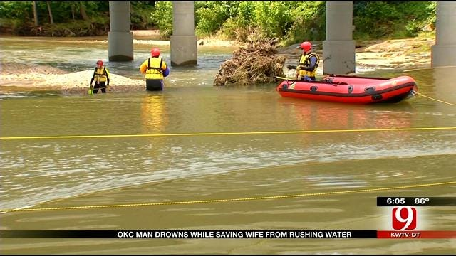 Wife Of OKC Man Who Drowned Says Husband Saved Her Life