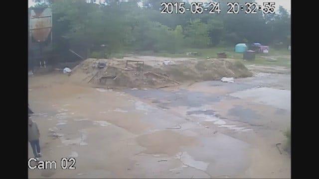 WEB EXTRA: Surveillance Video Of Man Walking Around OKC Business That Was Burglarized