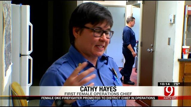 Female Firefighter Earns Historic Promotion At OKC Dept.