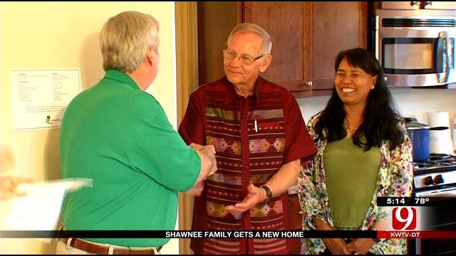 Shawnee Family Displaced By 2013 Tornado Receives New Home