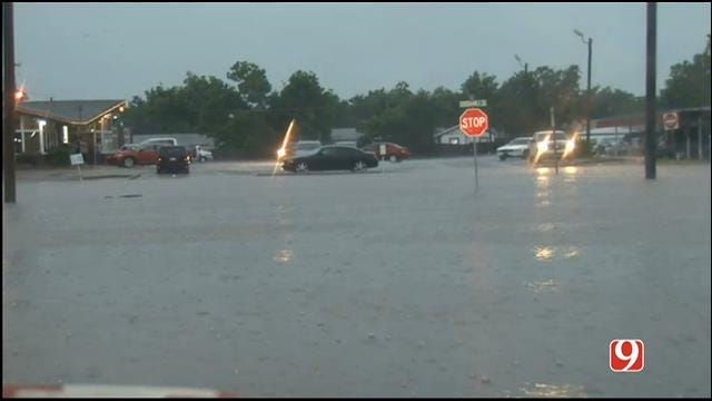 WEB EXTRA: Heavy Rains Flood Lawton City Streets