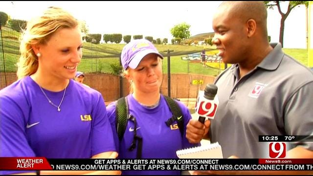 VIDEO: Women's College World Series Players Get Tested On Oklahoma Knowledge