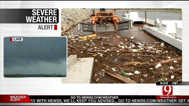 Crews Clear Oklahoma River Of Storm Debris