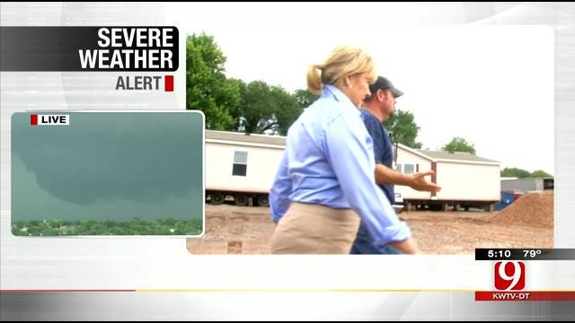 Fallin Tours Purcell, Other Areas Affected By Recent Flooding