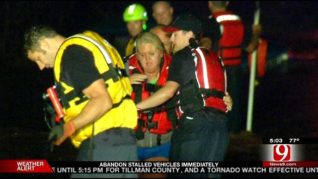 OKC Fire Crews Respond To 55 Water Rescues Over The Weekend