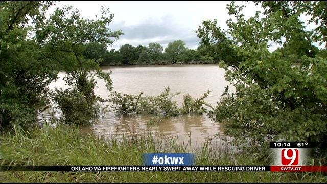 Pittsburg County Rescuers, Driver Pulled Safely From Flood Waters