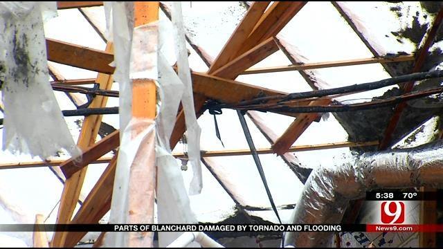 Parts Of Blanchard Damaged By Tornado, Flooding