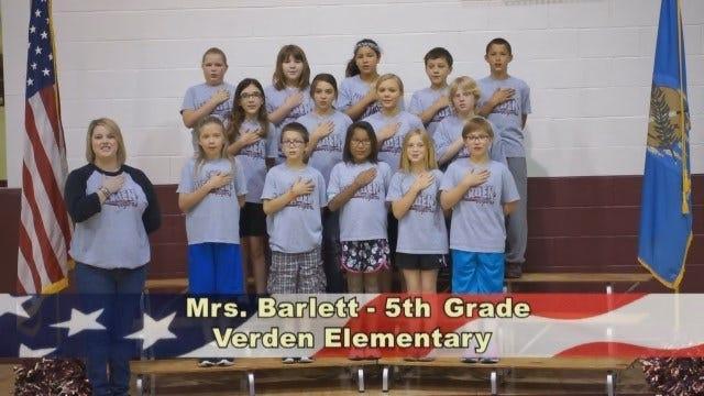 Mrs. Bartlett's 5th Grade Class at Verden Elementary School