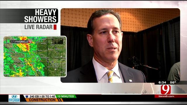 Pennsylvania Senator Rick Santorum Speaks About OK Earthquakes