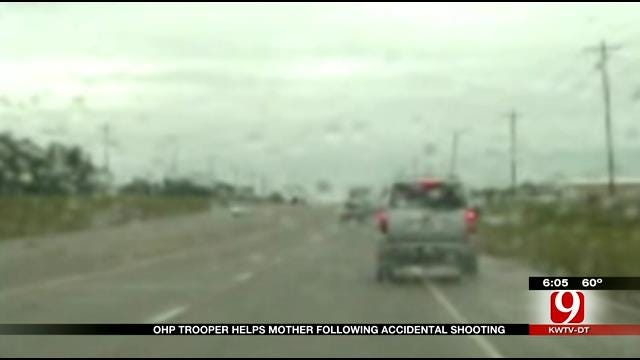 OHP Releases Dash Cam Video Of Trooper Helping Mother Following Accidental Shooting