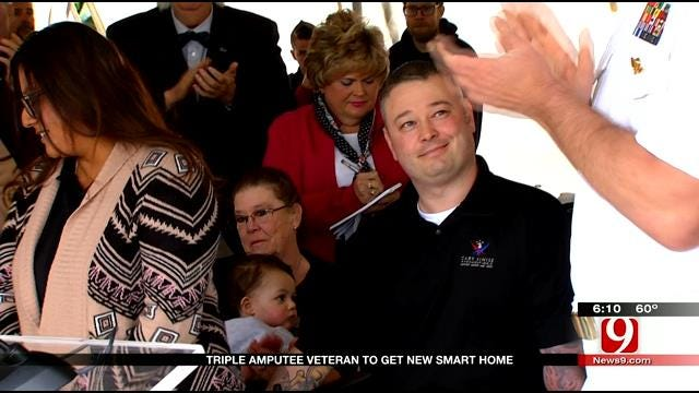 Triple Amputee Veteran Gets New 'Smart Home'