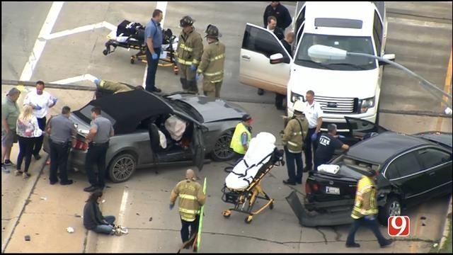WEB EXTRA: SkyNews 9 Flies Over Injury Crash In NW OKC