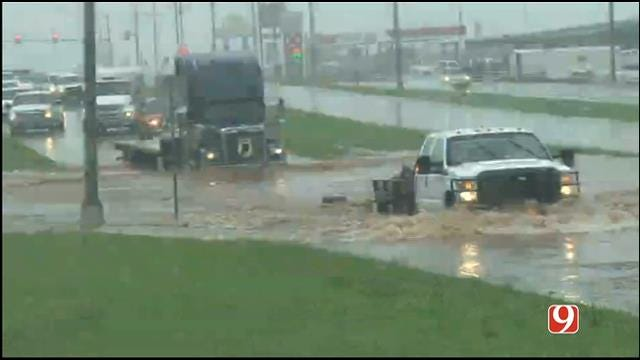 WEB EXTRA: Flooding Reported In Chickasha