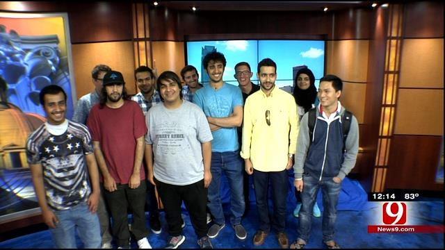 Students From Southern Nazarene University Visit News 9