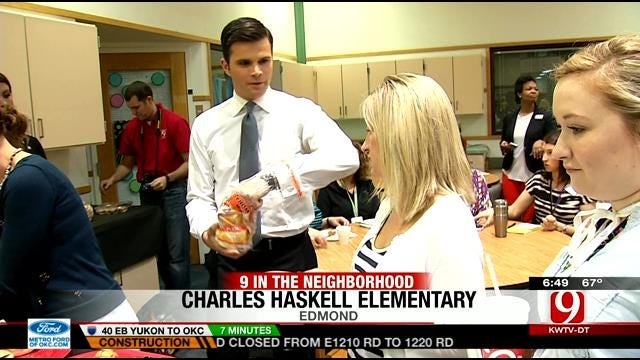 News 9 This Morning Crew Visits Charles Haskell Elementary