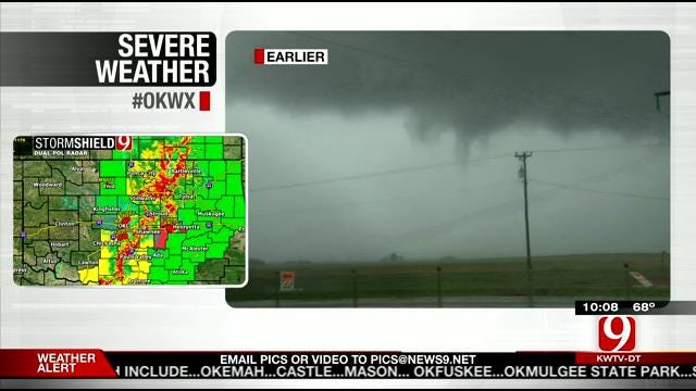 Multiple Tornadoes, Hail Reported In Western Oklahoma