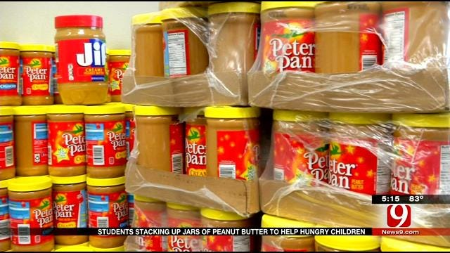 Francis Tuttle Students Collecting Peanut Butter To Help Hungry Children