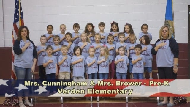 Mrs. Cunningham and Mrs. Brower's Pre-K Class At Verden Elementary