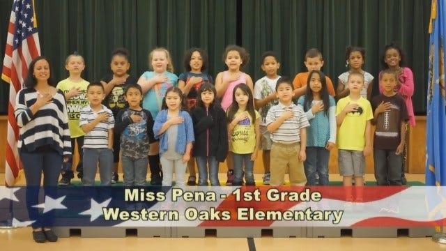 Miss Pena's 1st Grade Class At Western Oaks Elementary